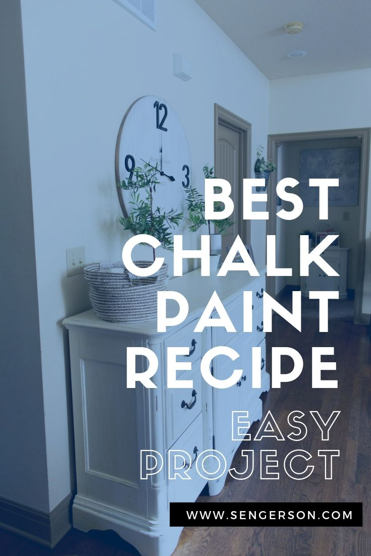 best homemade chalk paint recipe that is easy to make with calcium carbonate