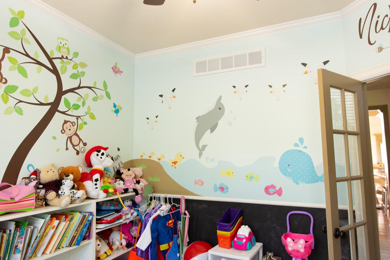 kids playroom walls and decals