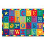 kids playroom rug alphabet