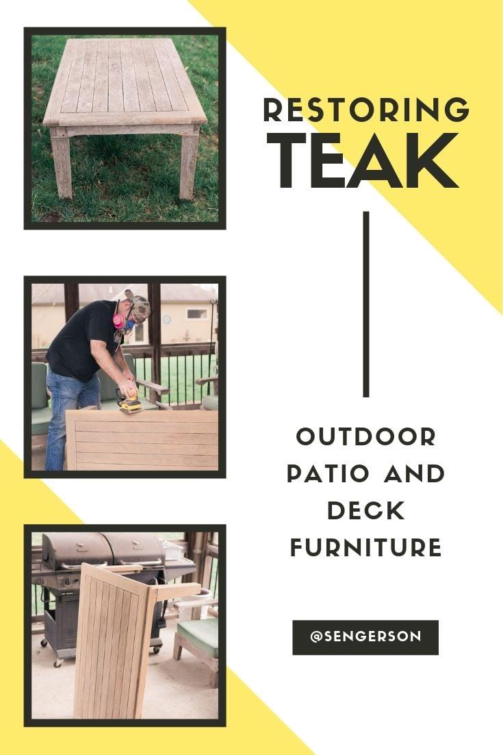 restoring teak furniture outdoor