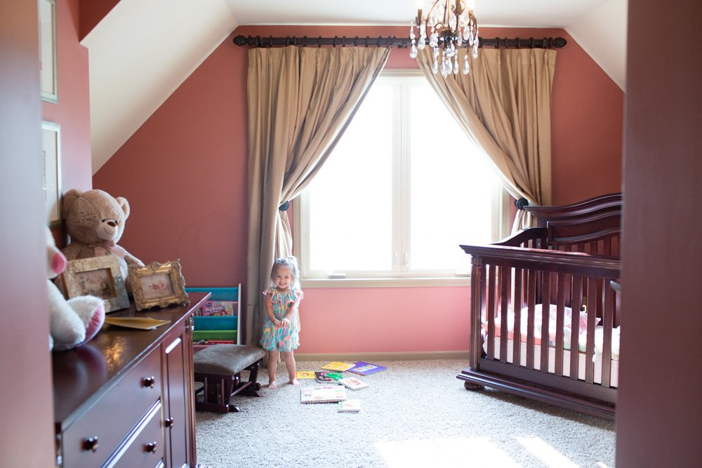 muted rose pink paint color in nursery