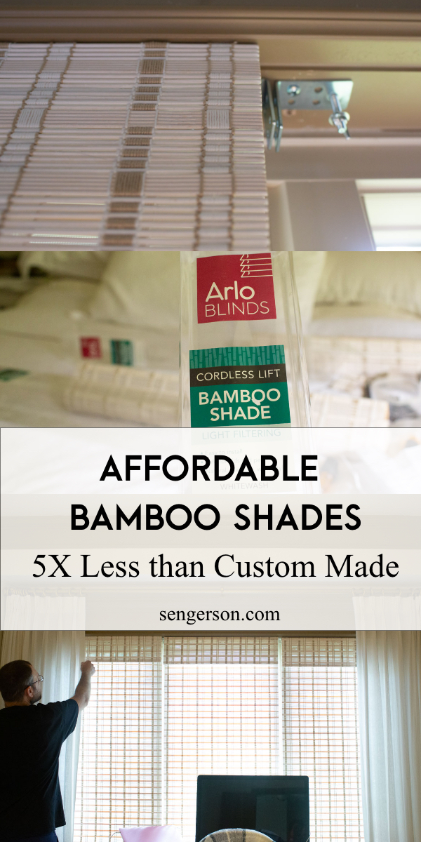 Affordable Whitewash Bamboo Shades From Amazon Honest Review