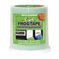 FrogTape Multi-Surface Painter's Tape, Green, 1.41 Inches x 60 Yards, 4 Roll Pack (240660)