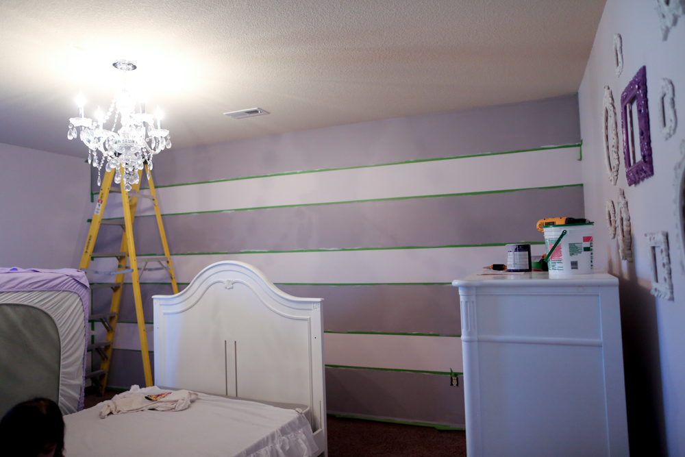 how to paint stripes on wall painting the walls