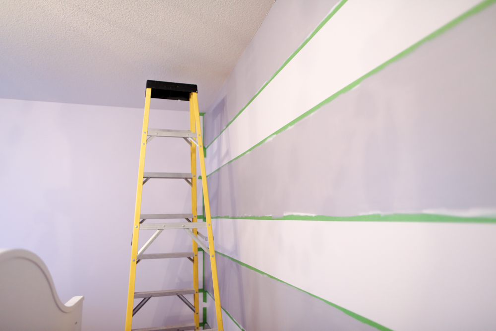 how to paint stripes on wall stripes