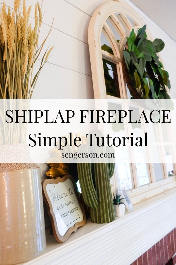 super easy tutorial on how to shiplap a fireplace for an easy upgrade