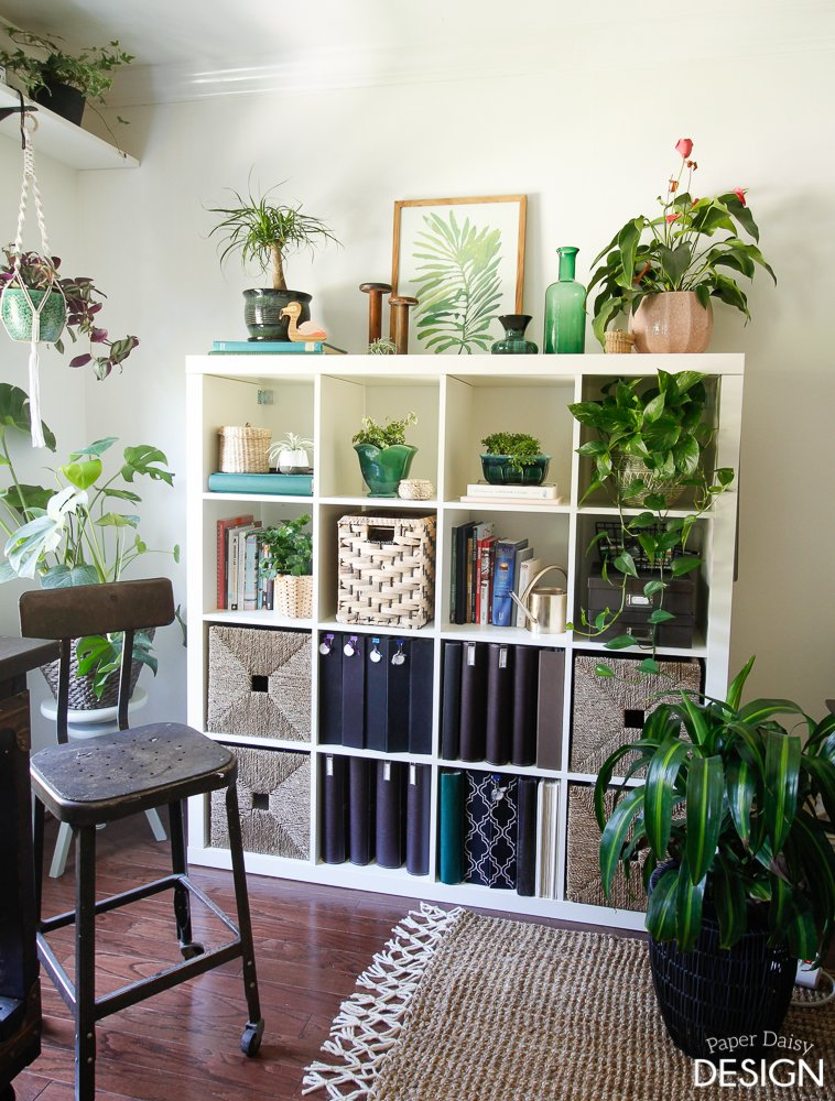 Ikea Kallax craft shelf