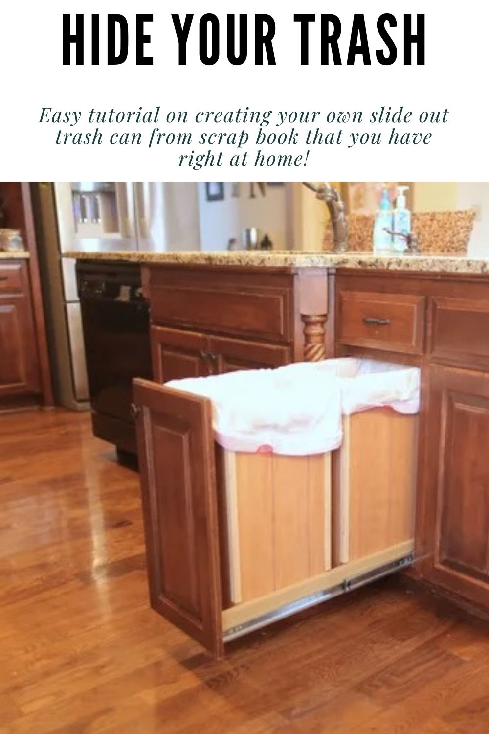 Diy Double Trash Can Cabinet Tutorial With Pictures Step By Step