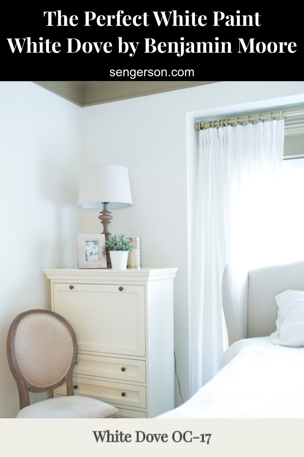 perfect white paint - white dove Benjamin Moore