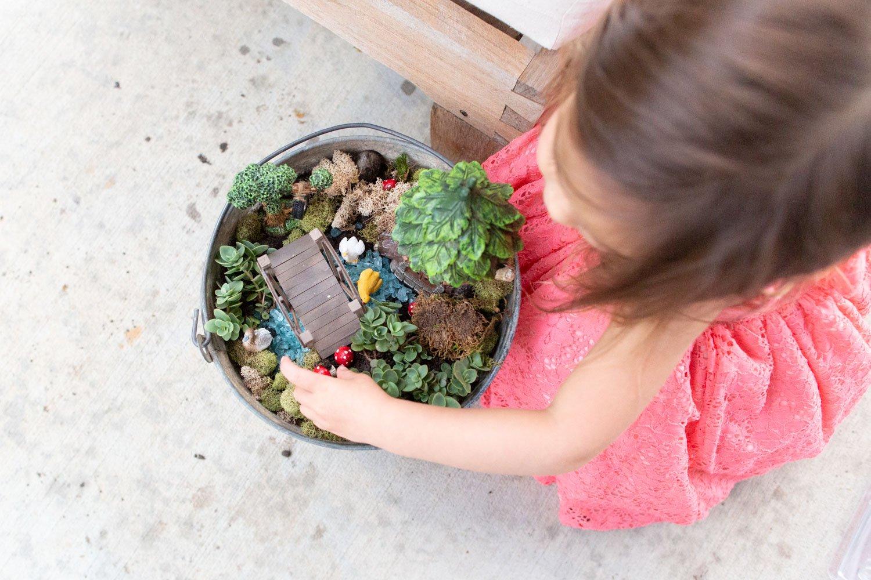 How to Make an Outdoor Fairy Garden in a Bucket - SIMPLE Tutorial