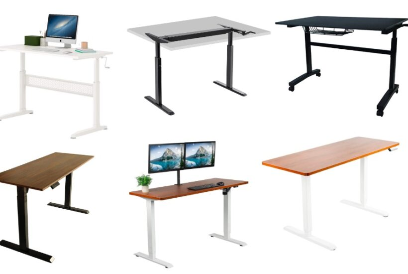 standing desk comparison hand crank motor and electric standing desk