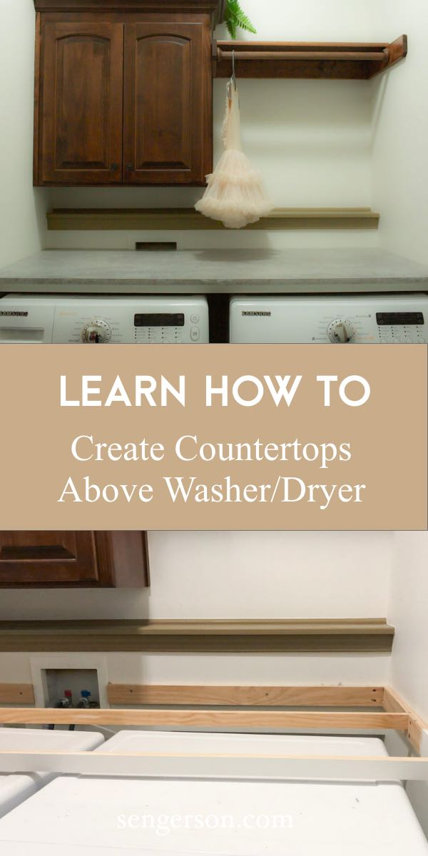how to create countertop for laundry room washer and dryer