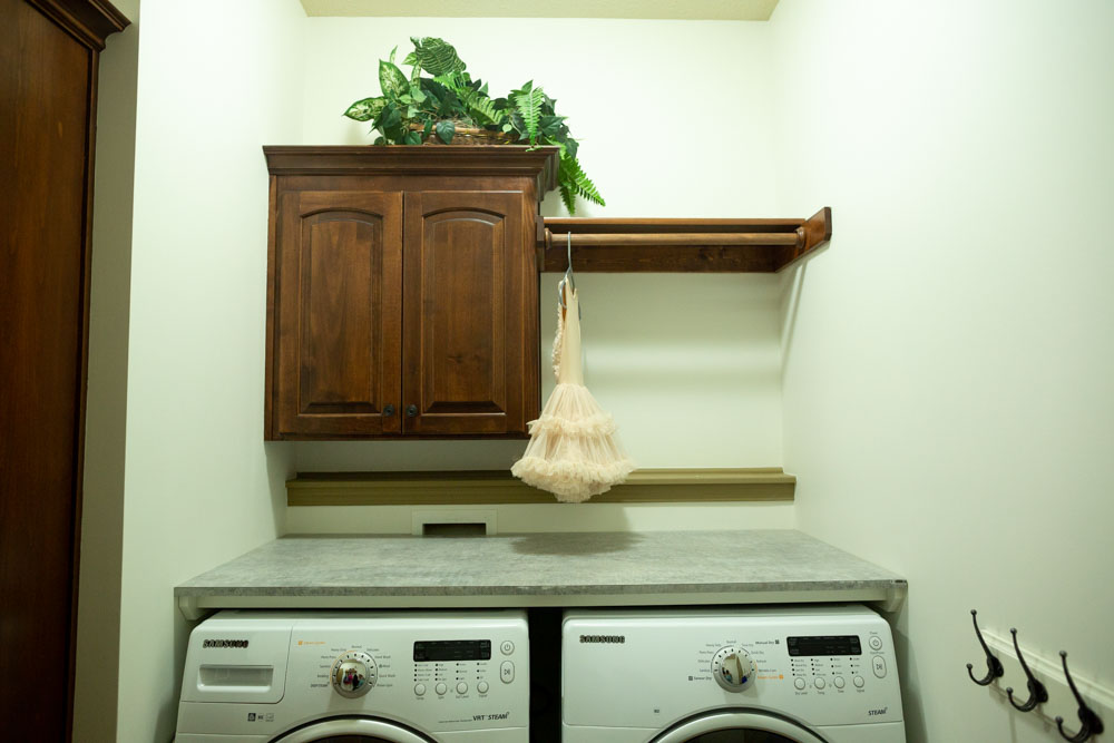 How to Make a Laundry Room Countertop Over Washer and Dryer