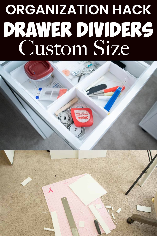 ikea drawer divider hack homemade