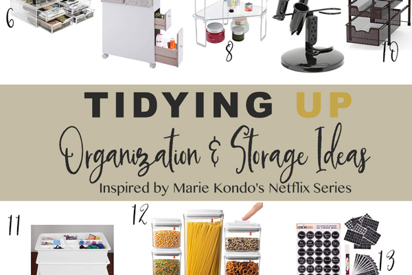 15 Amazing Tidy Cleaning Organization and Storage products (Inspired by Marie Kondo's Tidying Up)