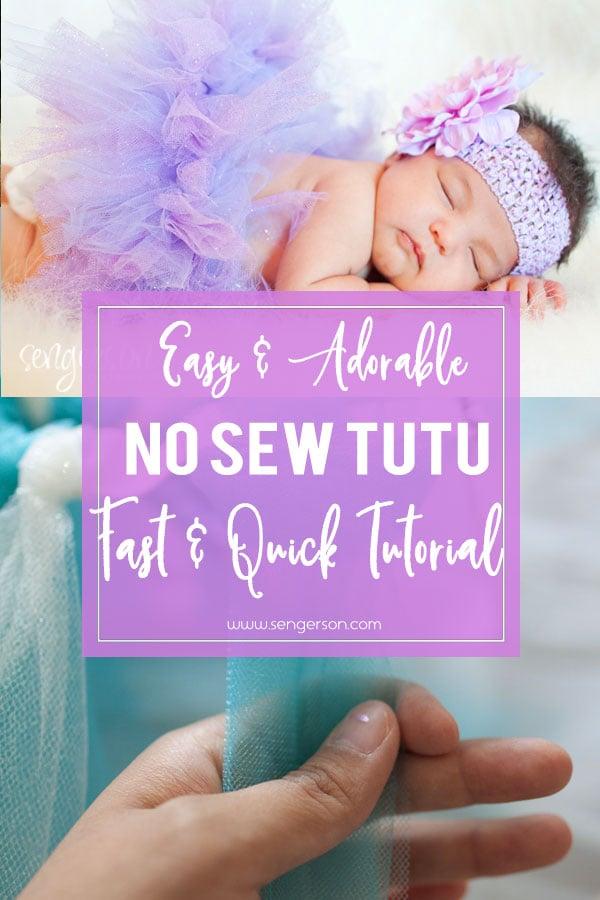 DIY no sew tutu baby skirt