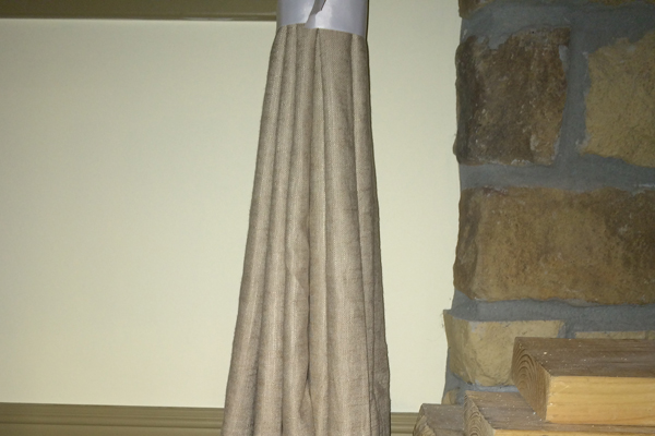 Two Story Living Room Curtains
