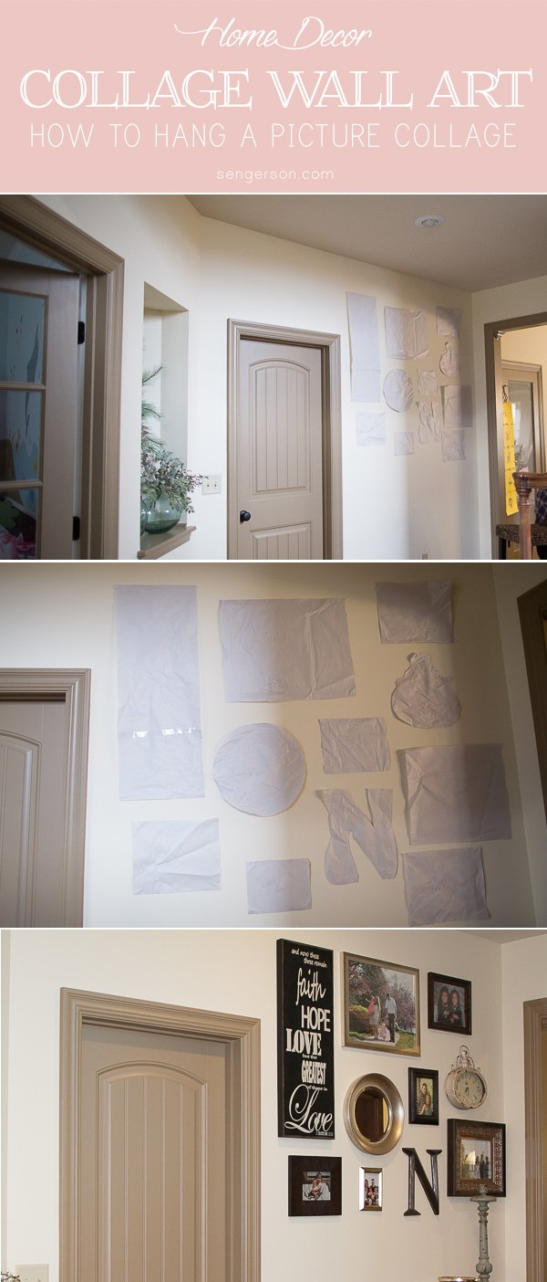 how to hang a wall art collage