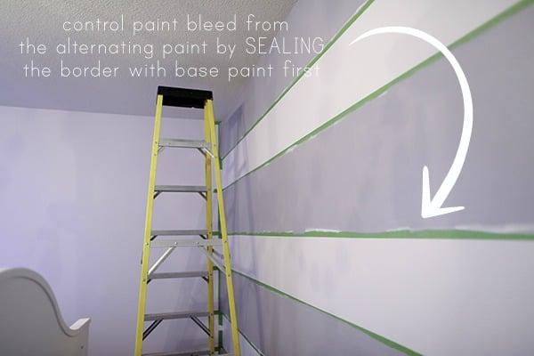 paint striped walls