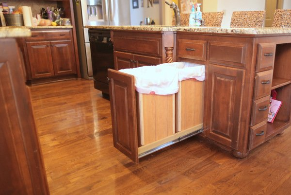 diy pull out trash can and Recycle Bin sliding garbage can