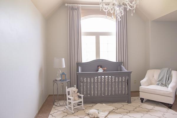 boy nursery rustic luxe