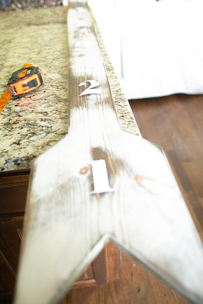 wooden growth chart diy outline numbers