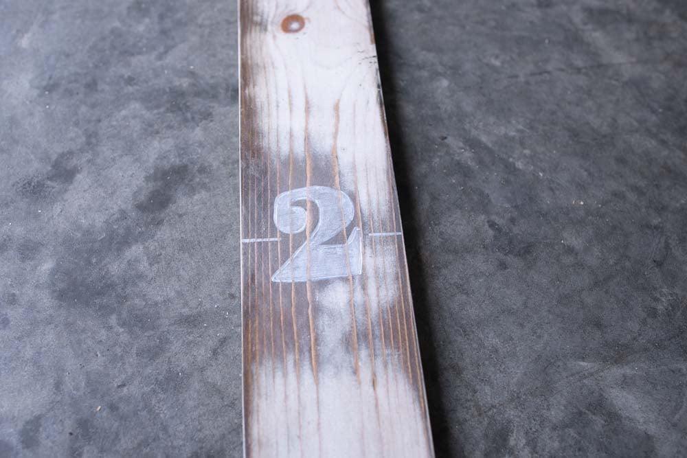 wooden growth chart diy