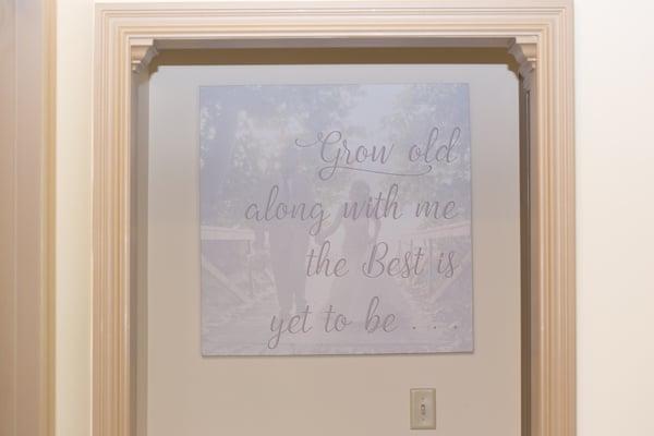 DIY Wedding Vow Art Wall