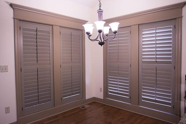 breakfast nook ideas plantation shutters interior shutters