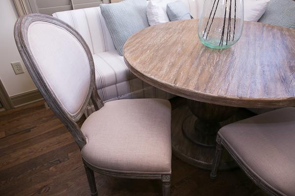 breakfast nook ideas linen chairs