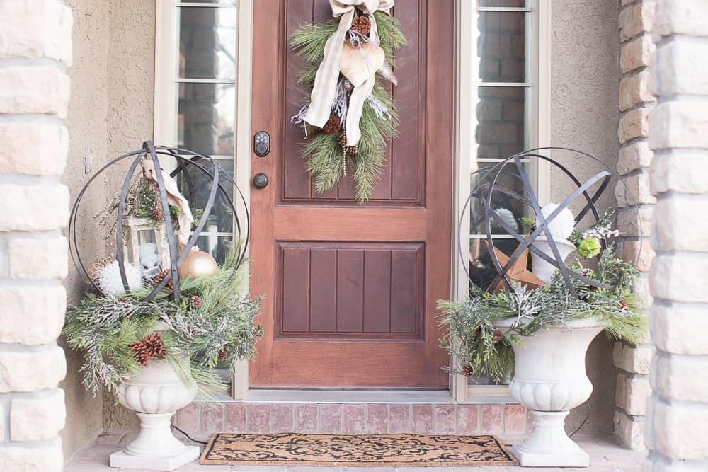 flocked christmas wreath