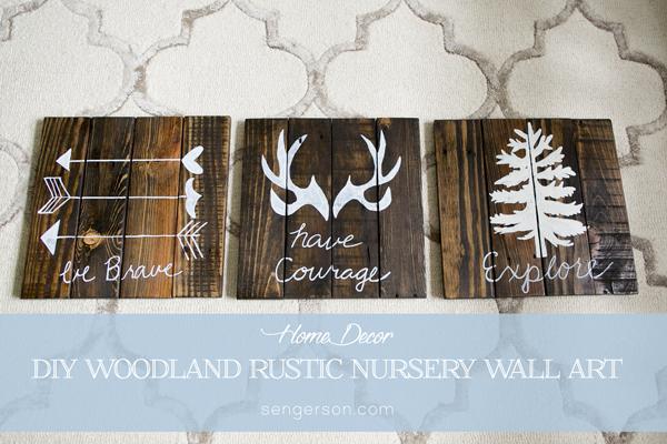 DIY Rustic Pallete Wall Art Boy Nursery