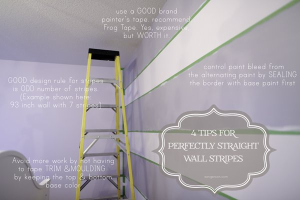paint perfect wall stripes