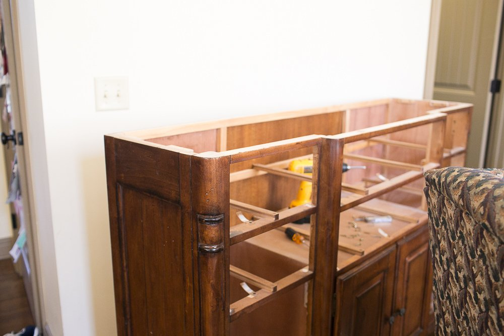 diy dresser into buffet 0002