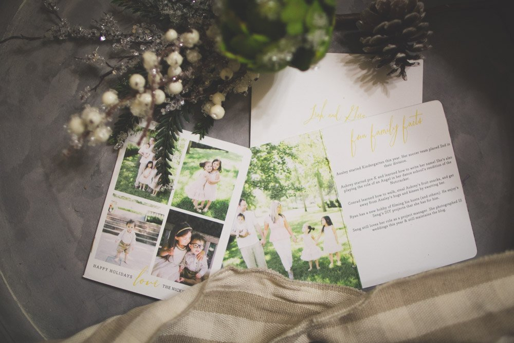 Minted Booklette Christmas Card