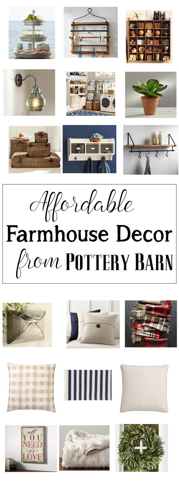 farmhouse decor pottery barn affordable
