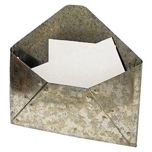 galvanized mail holder fixer upper style