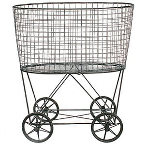 farmhouse laundry basket vintage
