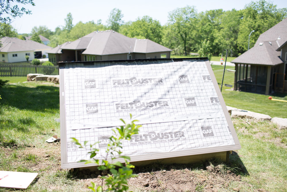 cold frame shingles installation