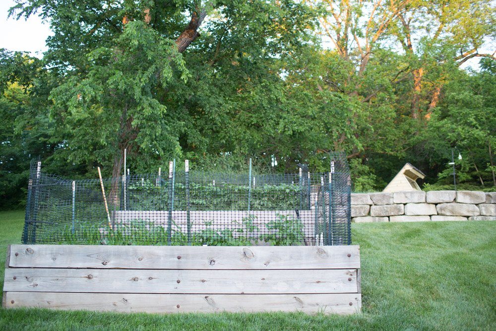 tiered garden with cold frame