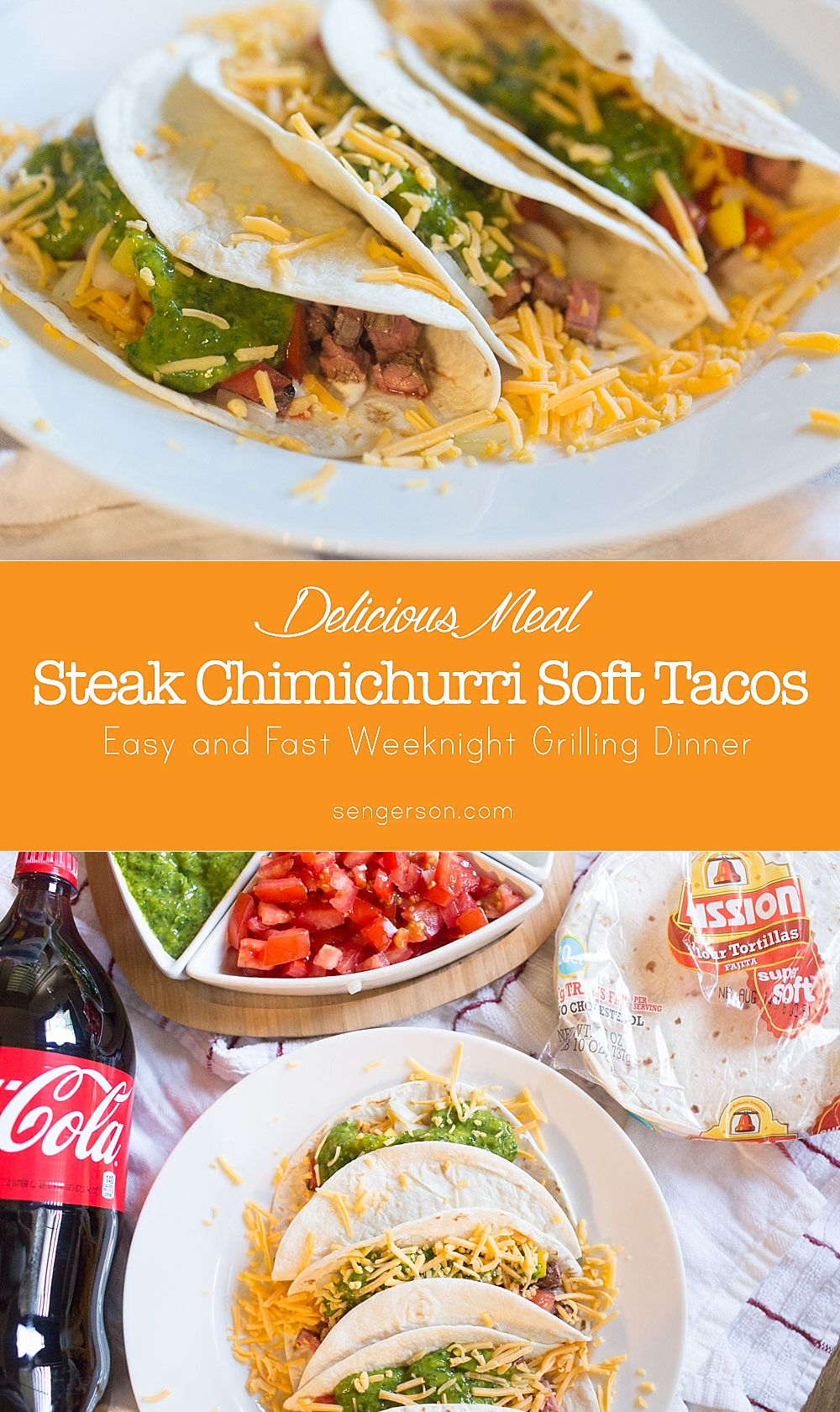 How to Make Easy Chimichurri Sauce for Steak receta recipe   Easy Chimichurri Steak Tacos featured by top US food blogger, Sengerson