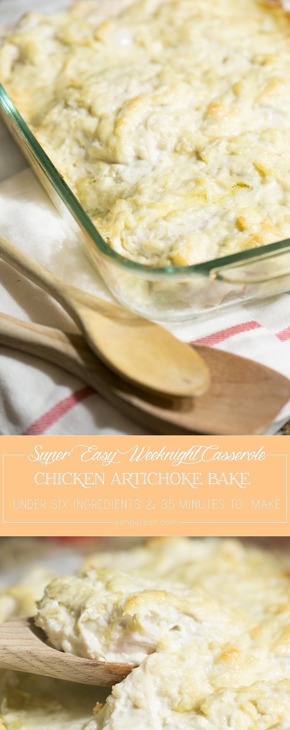 Delicious and easy chicken artichoke bake on a weeknight everyone is sure to love. #ExperienceScrubDots #ad