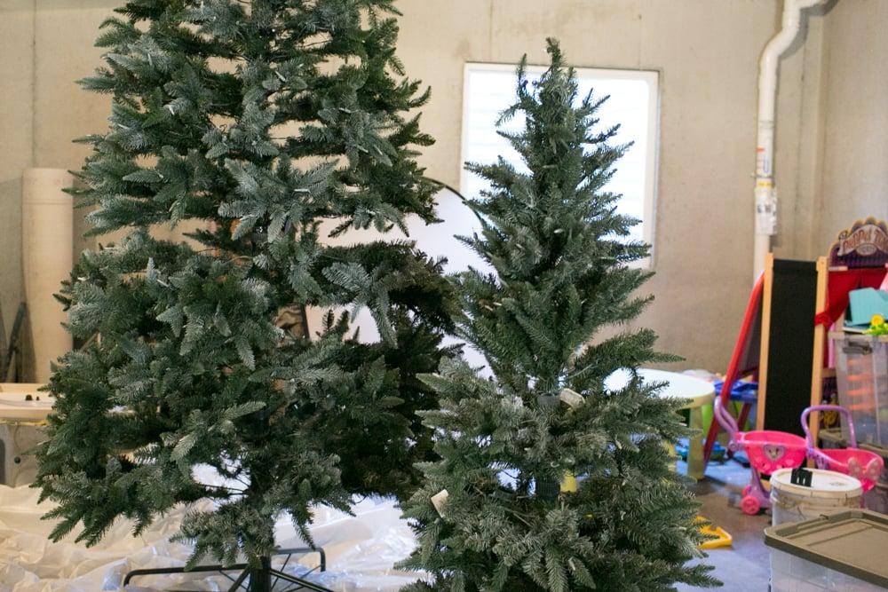 diy snow on christmas tree