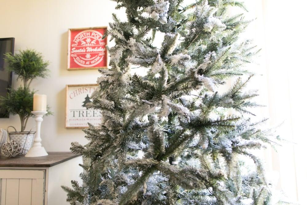 flock a christmas tree