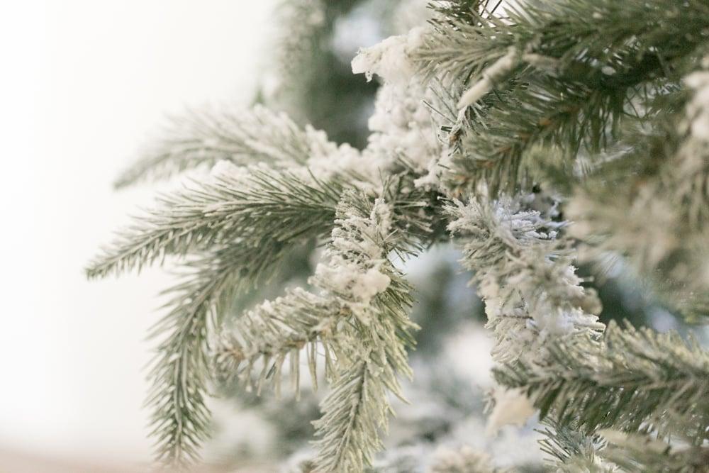 snow on tree fake