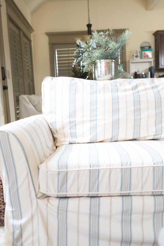 custom sofa slipcovers close up look