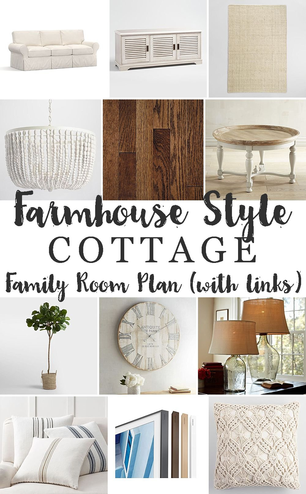 modern farmhouse family room