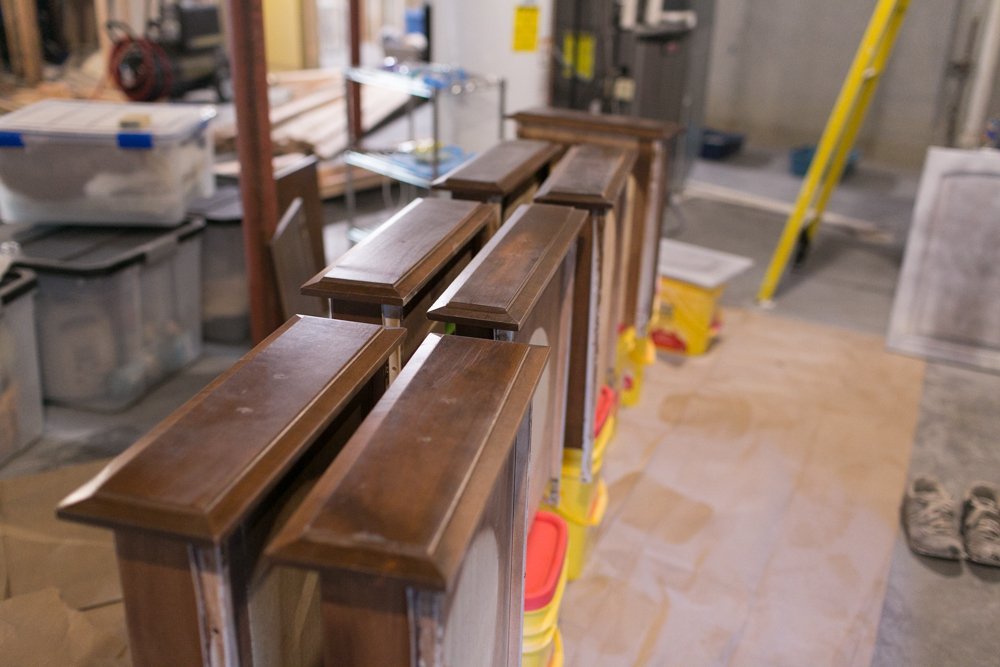 ikea kitchen cabinets craft room