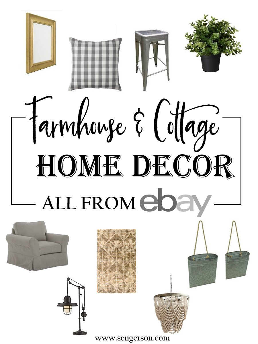 @eBay is one of the first places I shop when buying home decor. I can find luxe products on the cheap!