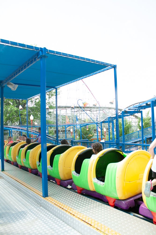 Worlds of Fun catepillar - things to do in kansas city with kids